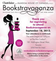 Bookstravanganza ticket
