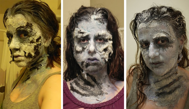 Frozen zombies, such as those found in the spring sweep. Make up by http://costumeologie.blogspot.ca