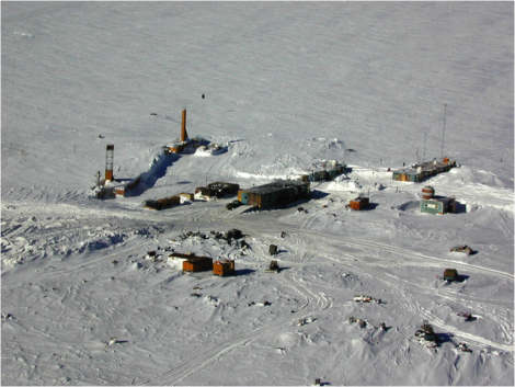 Vostok Station. Image from http://polarscienceiscool.wordpress.com/2012/12/21/our-russian-colleague-irina/