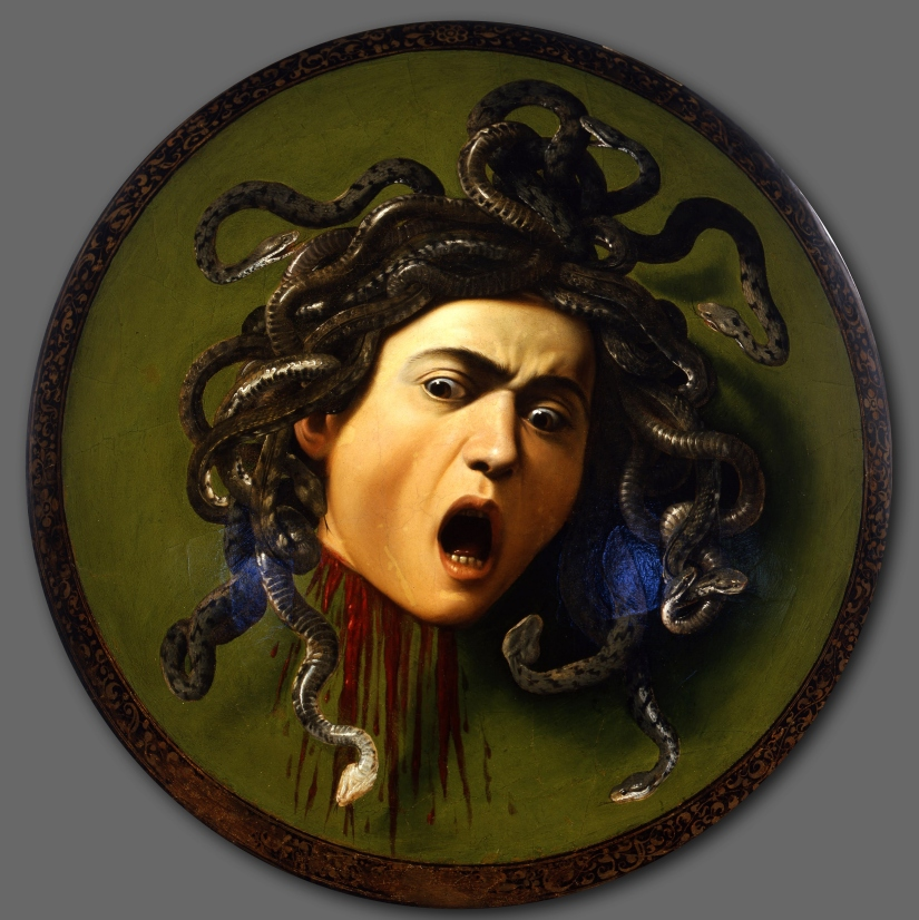 Caravaggio's Medusa. Image downloaded from http://www.wikipaintings.org/