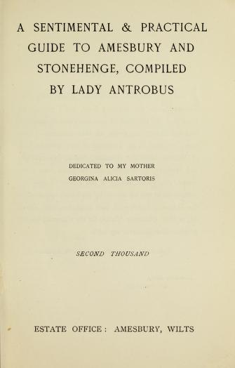 A key document in the course of the novel, this book was really written by Lady Antrobus and published in 1908. Via http://openlibrary.org